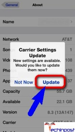 Update your Carrier Settings