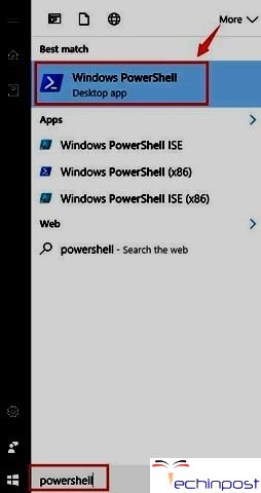 Start -> PowerShell -> Windows PowerShell