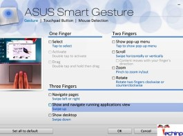 Asus Smart Gesture Not Working