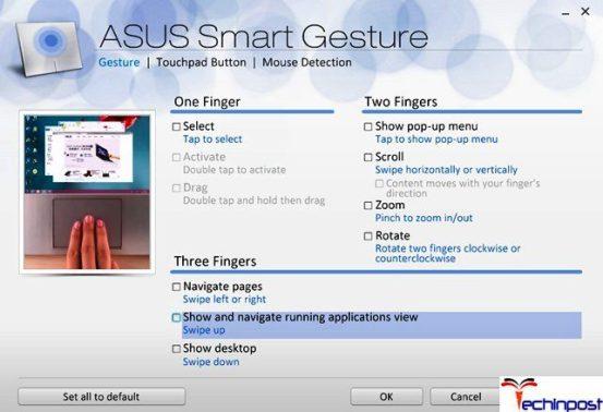 Asus Smart Gesture Not Working