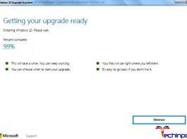 Windows 10 Upgrade Stuck at 99%