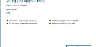 Windows 10 Upgrade Stuck at 99%