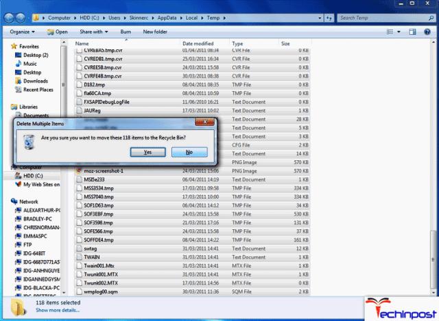 Deleting %TEMP% Files