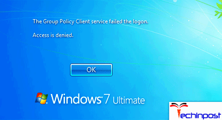 The Group Policy Client Service Failed the Logon