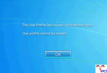 The User Profile Service Service Failed the Logon