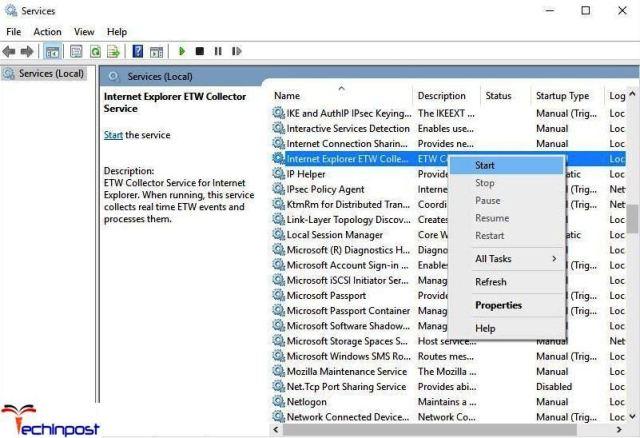 Check if Internet Explorer ETW Service is Running Class Not Registered