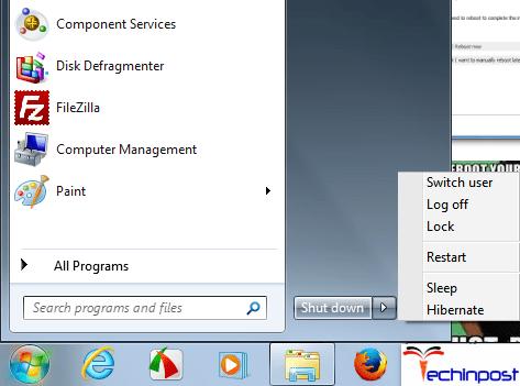 Reboot your Computer