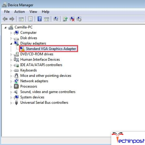 Update your Video Card Drivers for getting rid of Error Thread Stuck in Device Driver
