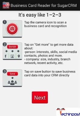 Business Card Reader SugarCRM