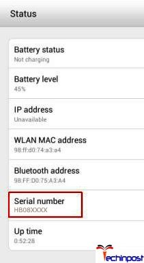 how to find phones serial number