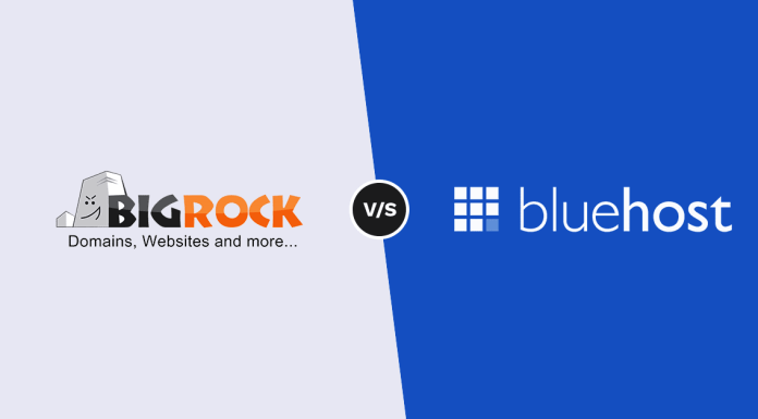 Comparison between BigRock and BlueHost