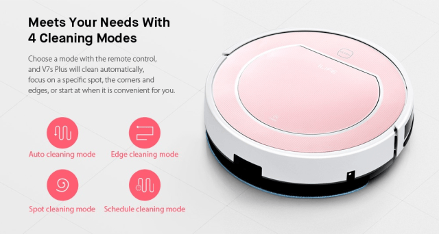 Ilife V7s Plus Cleaning Modes