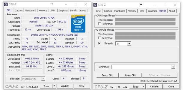 Ryzen 7 1700 CPU-Z