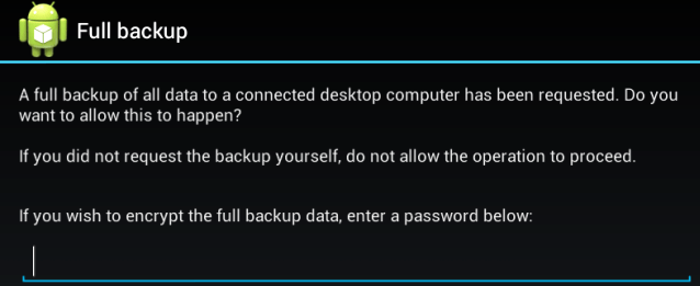 Create Full Backup