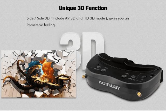 AOMWAY Commander V2 FPV Goggles Unique Function