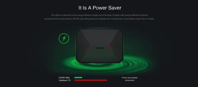 CHUWI GBox Mini PC Power