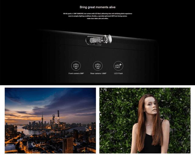 Chuwi Hi 9 Air 4G Tablet PC Camera