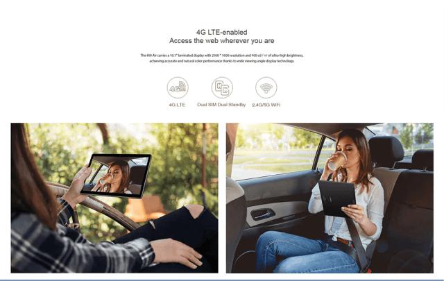 Chuwi Hi 9 Air 4G Tablet PC Connectivity