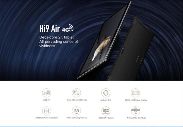 Chuwi Hi 9 Air 4G Tablet PC Overview