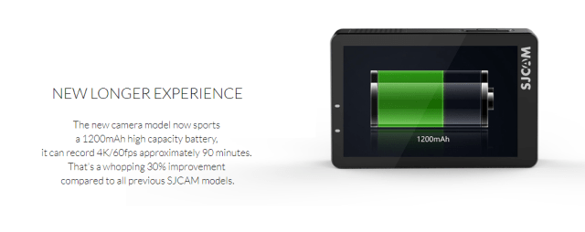 SJCAM SJ8 Plus battery