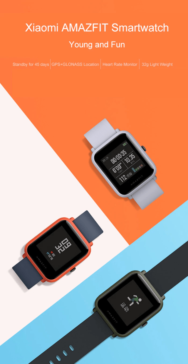 Xiaomi Huami AMAZFIT Bip Lite Version SmartWatch