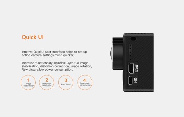 Hawkeye Firefly 8SE Action Camera UI