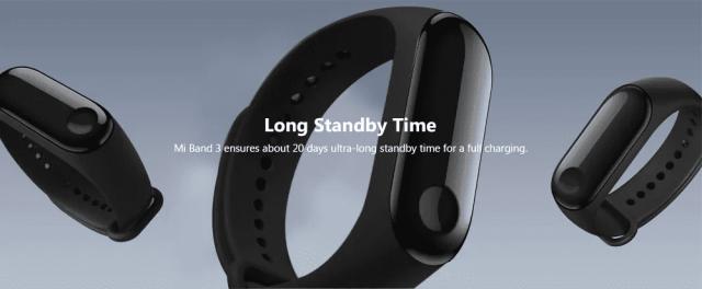 Xiaomi Mi Band 3 Long Standby
