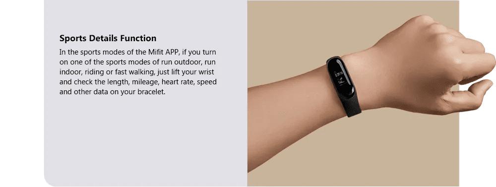 Xiaomi Mi Band 3 Sports Details