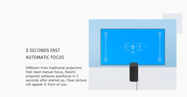 Xiaomi TYY01ZM DLP 3500 Lumens Projector Autofocus