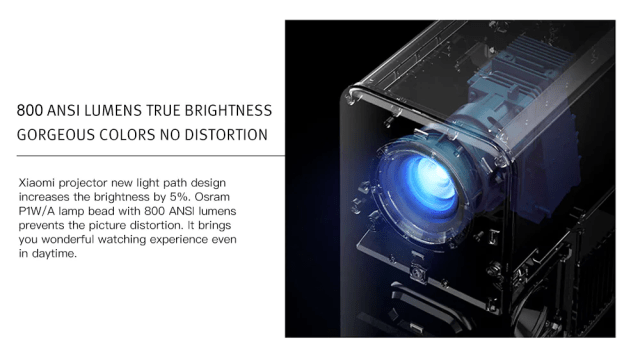 Xiaomi TYY01ZM DLP 3500 Lumens Projector Brightness