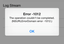 NSURLErrorDomain Error 1012