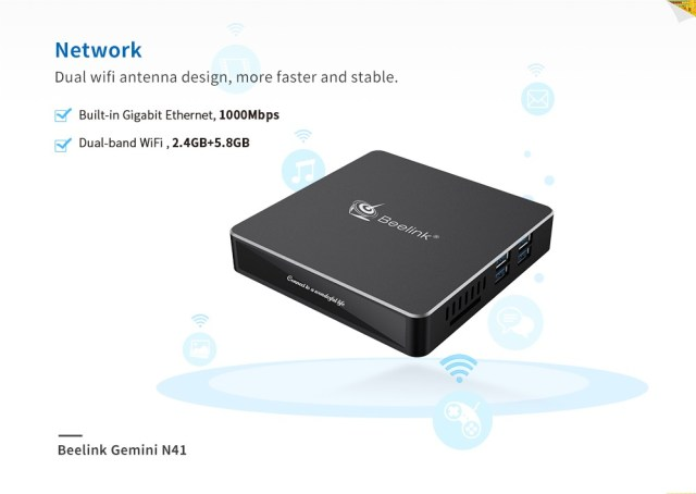 Beelink N41 N4100 Mini PC Connectivity