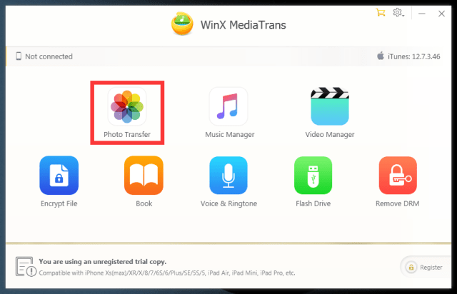 How to Transfer Photos Through WinX MediaTrans