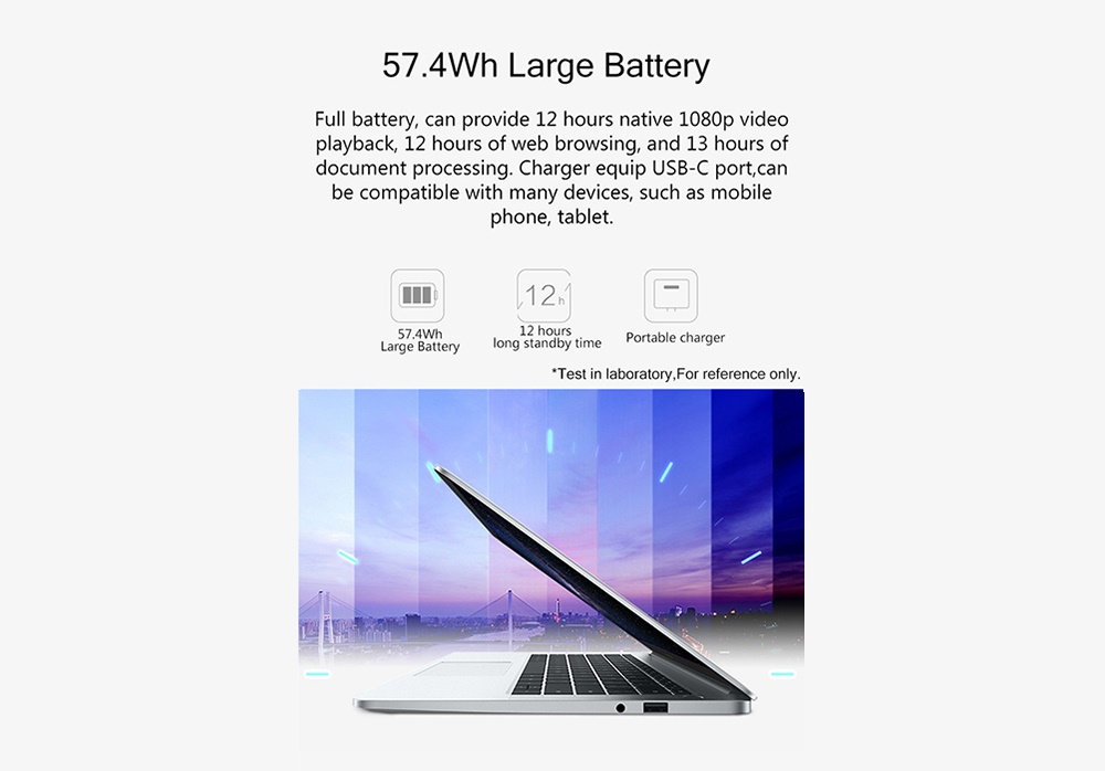 HUAWEI Honor MagicBook Laptop: Battery