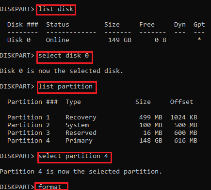 diskpart SMART Hard Disk Error
