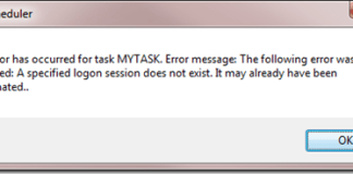 A Specified Logon Session Does Not Exist