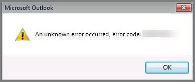 unknown error occured
