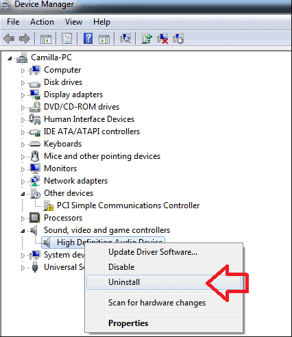 Audio Driver The Extended Attributes Are Inconsistent