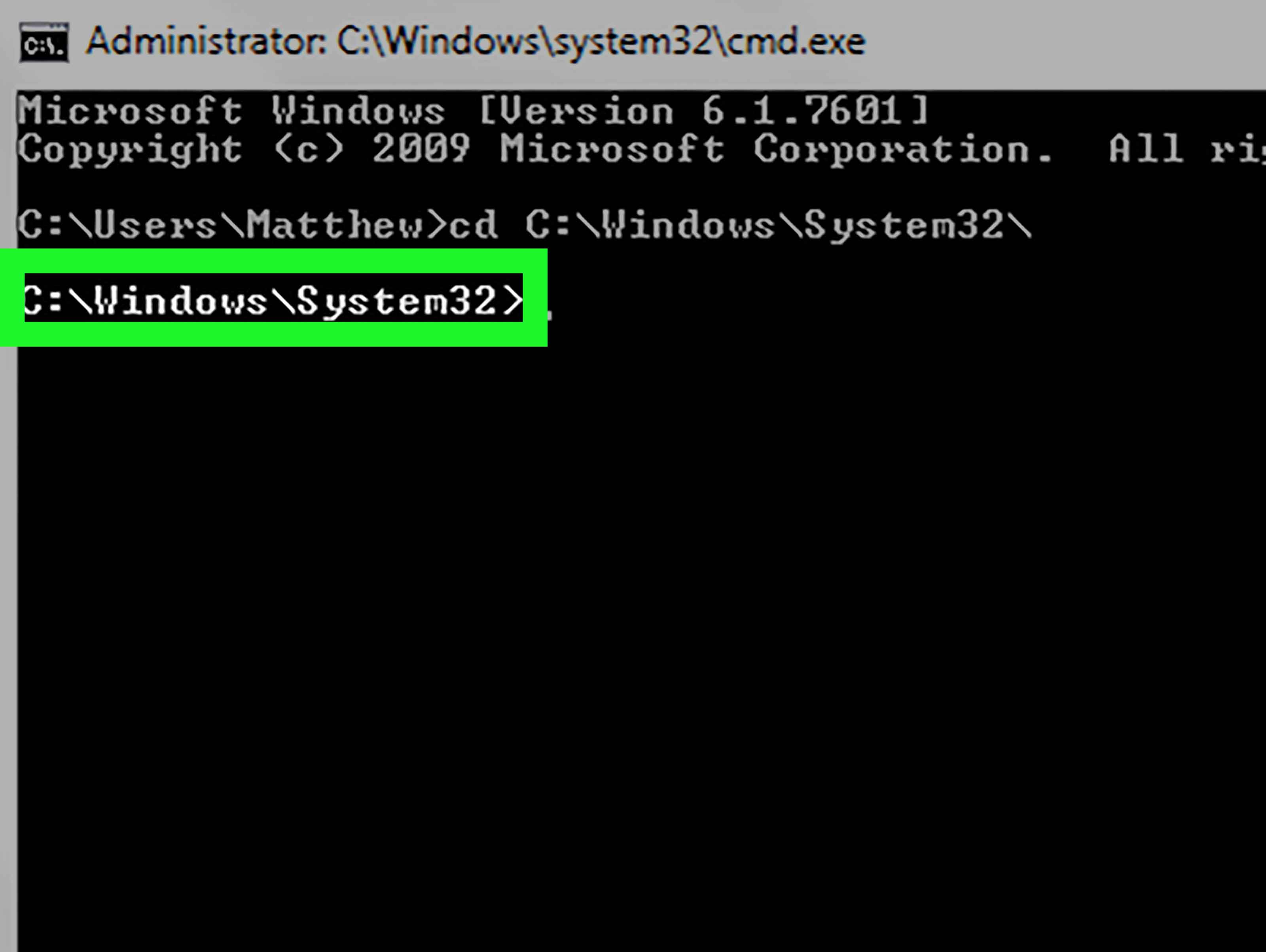 The system cannot find the path specified