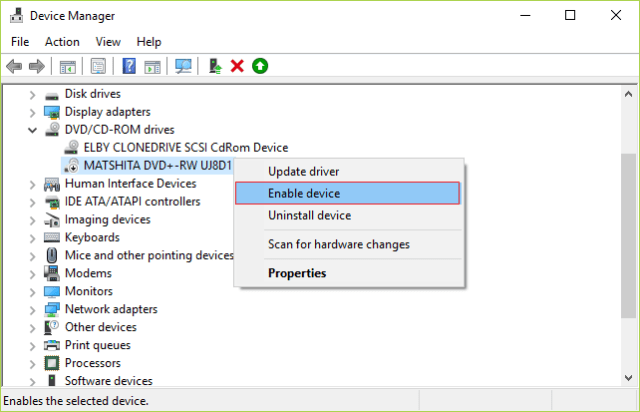 ENABLE DVD DRIVER The Directory Name Is Invalid