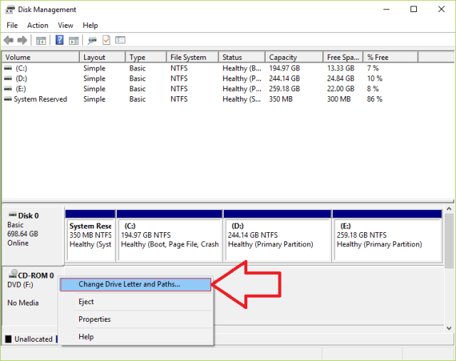 DISK MGMT 1 The Directory Name Is Invalid