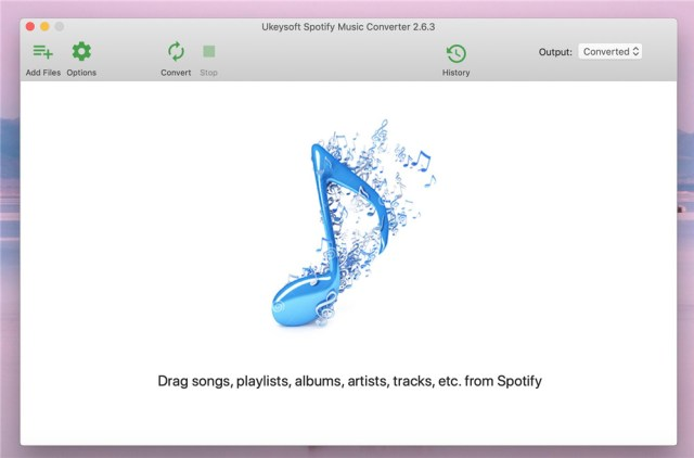 Download, install and launch UkeySoft Spotify Music Converter on Windows and Mac computer