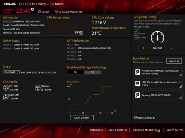 Steps to Overclock