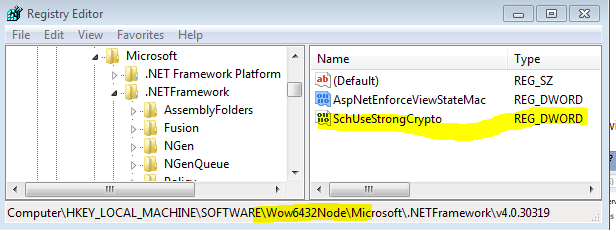 SchUseStrongCrypt An Existing Connection was Forcibly Closed by the Remote Host