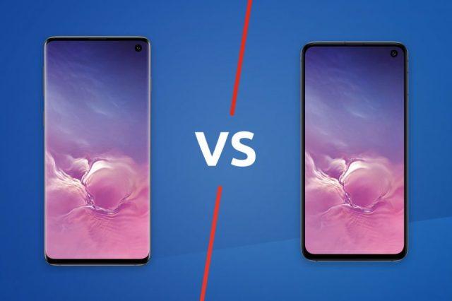 Galaxy S10e vs S10