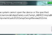 The System Cannot Find The Device Specified Error