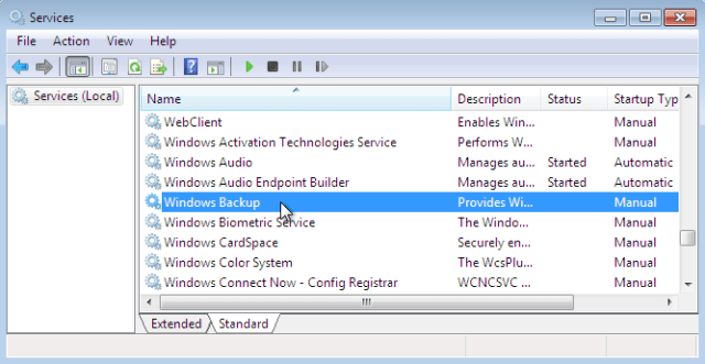 Windows Backup services The Volume for a File has Been Externally Altered
