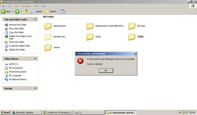 access is denied XP