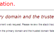 The Trust Relationship Between the Primary Domain and the Trusted Domain Failed Error