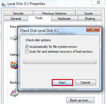 Scan for and attempt recovery of bad sectors SMART Hard Disk Error